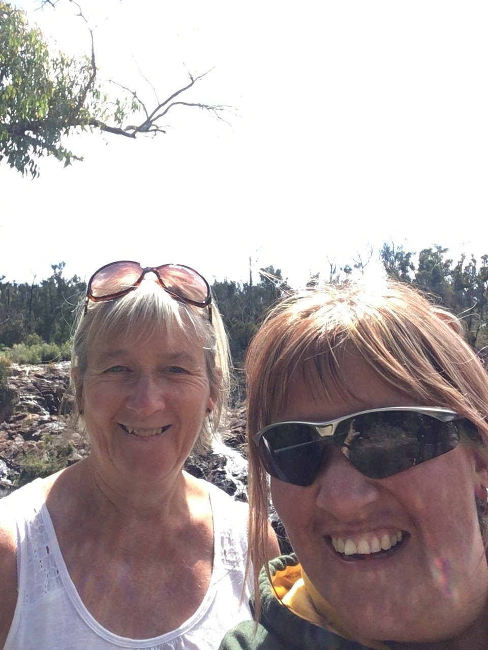 Mum and i in Australia in the mountains