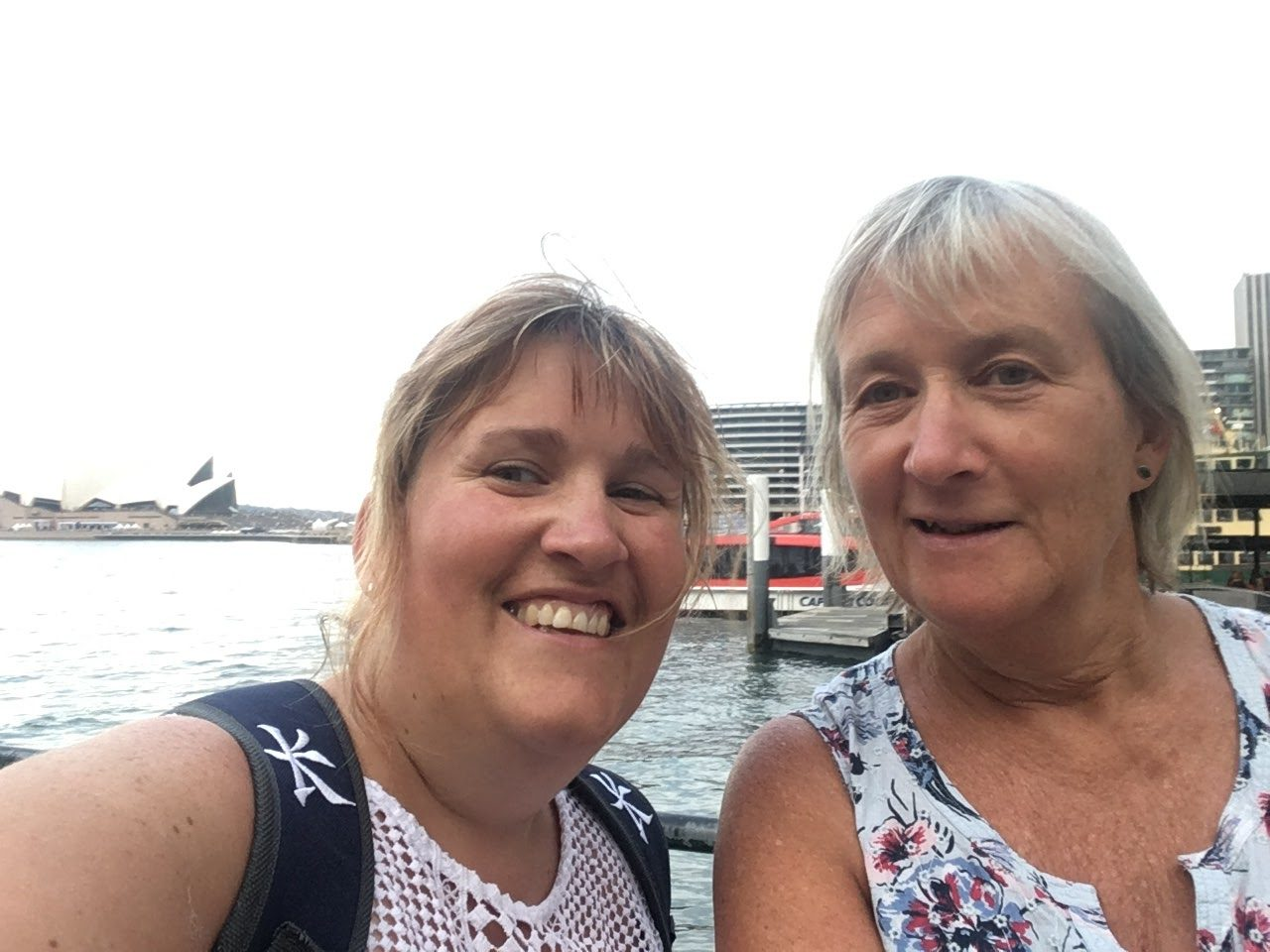 Mum and I in Sydney by the Opera House